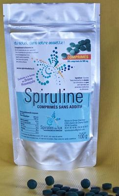 Spiruline en comprimés sachet de 100g
